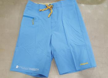 Board Shorts.  Embroidery on right shorts bottom.